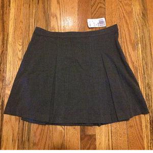 F21 Pleated Gray Office Chic Schoolgirl Mini Skirt